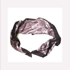Gucci Womans Purple Embroidered Silk Scarf
